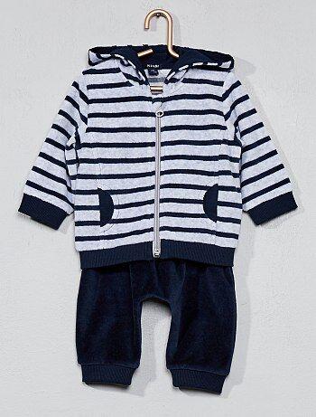 Bambino 0-36 mesi - Tuta 2 pezzi ciniglia - Kiabi