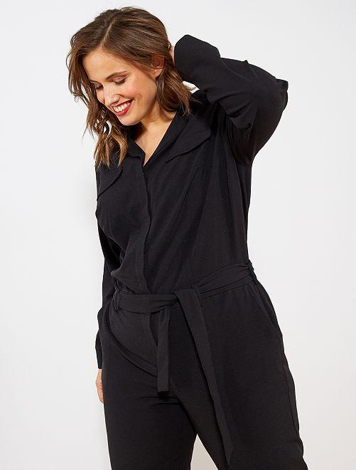 Tuta collo pigiama                                         nero