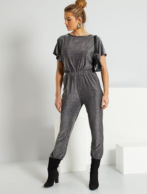 Tuta-pantaloni argentata                             nero