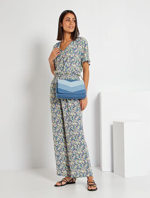 Tuta pantaloni floreale                                                                 BIANCO
