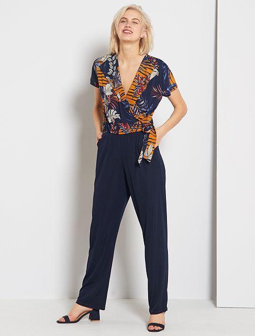 Tuta pantaloni stampata                                         BLU