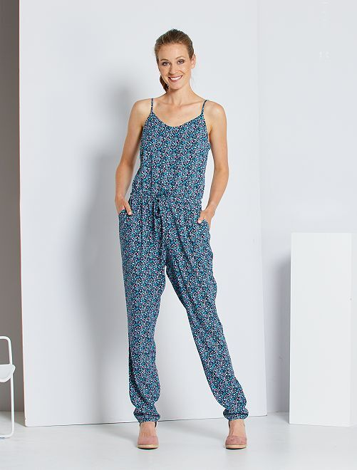 Tuta pantaloni stampati                                                                 BLU
