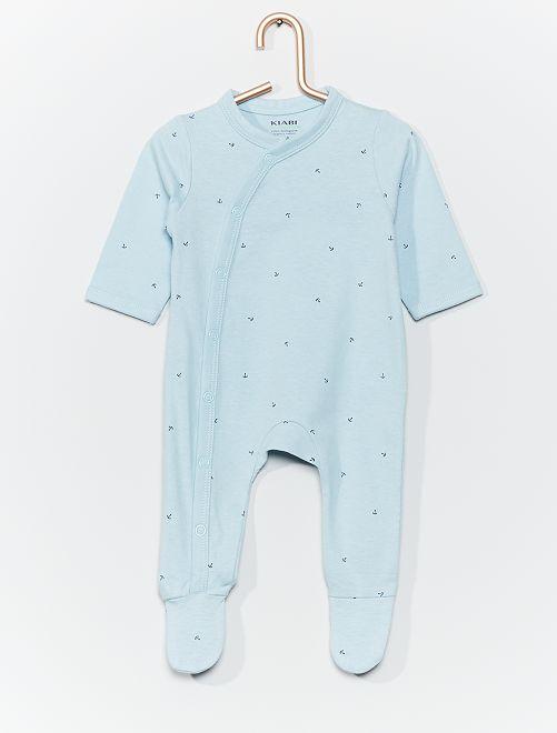 Tutina in jersey con stampa                                                                                         BLU