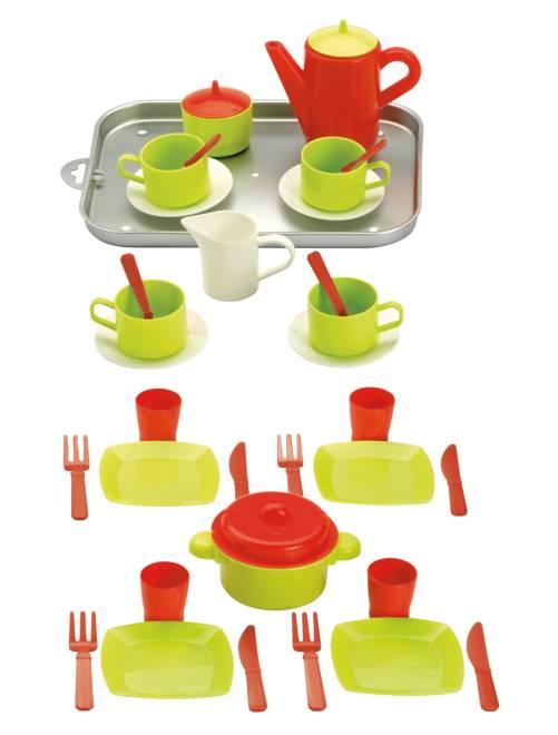 Vassoio accessori cucina 20 pezzi                             verde/rosso