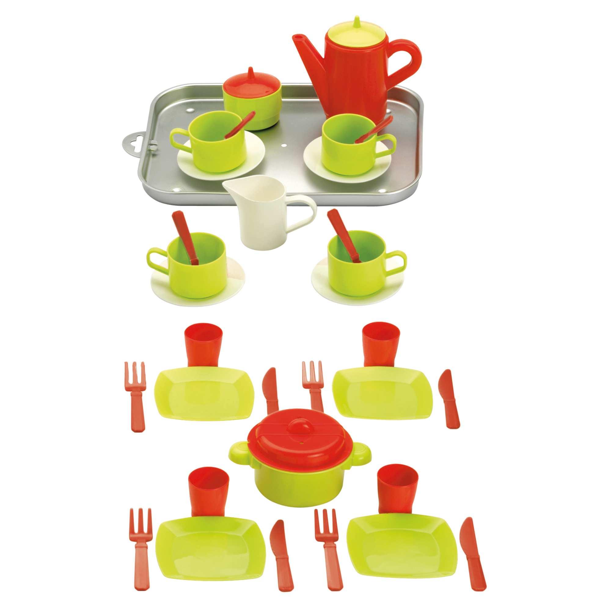 Vassoio accessori cucina 20 pezzi neonata verde rosso for Accessori cucina