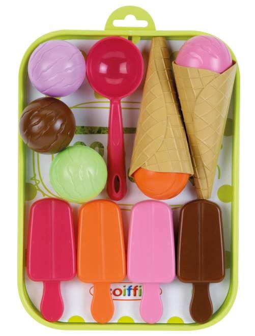 Vassoio di gelati 12 accessori                             multicolore