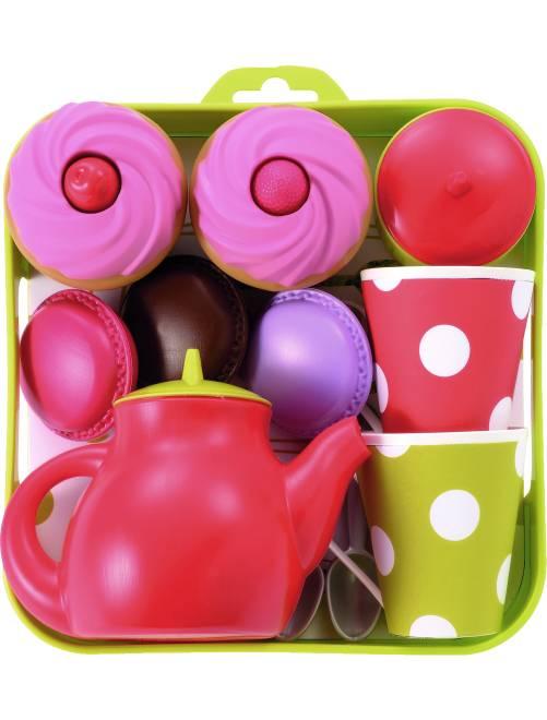 Vassoio servizio da tè e cupcake                             multicolore Infanzia bambina