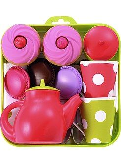 Vassoio servizio da tè e cupcake
