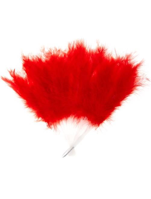 Ventaglio piume                                                                 rosso