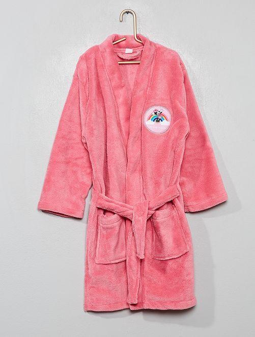 Vestaglia maglia pile 'Minnie'                             ROSA