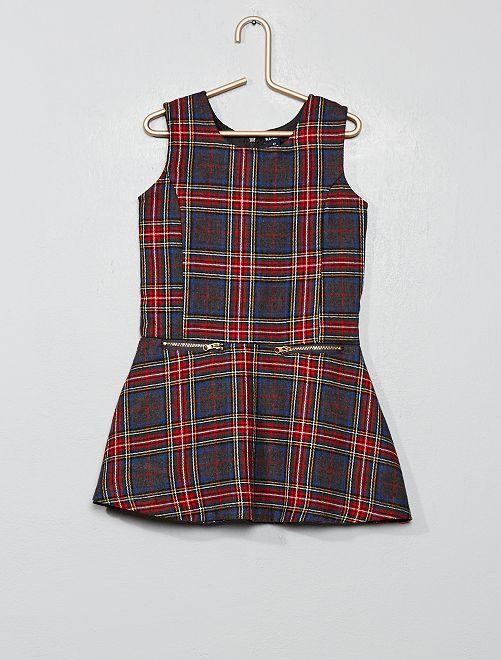 Vestito a quadretti stile scozzese                             ROSSO