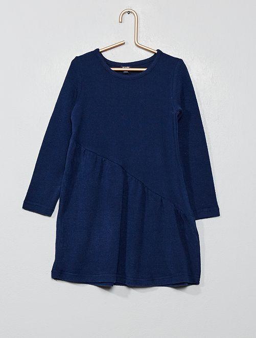 Vestito asimmetrico in maglia                                             BLU