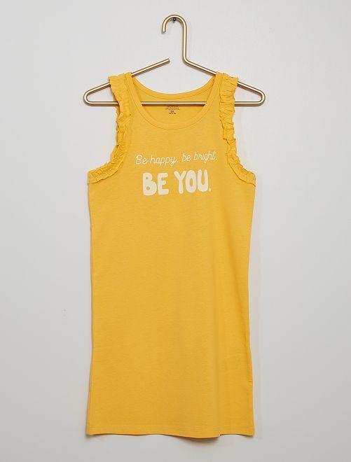 Vestito 'Be happy, be bright, be you'                                                     giallo