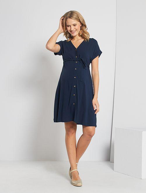 Vestito chemisier pré-maman                                                                 blu