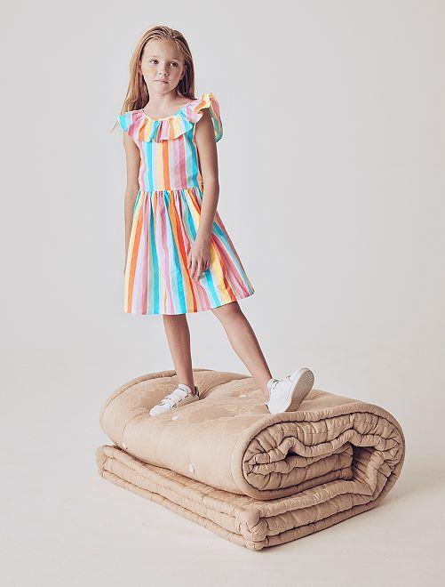 Vestito colorato popeline                                                                             BEIGE