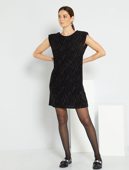 Vestito corto scollato dietro                                         nero