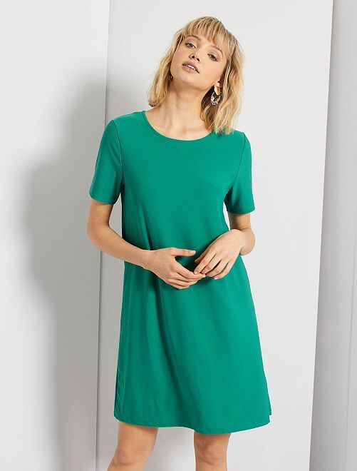 Vestito corto                                                                 verde pino