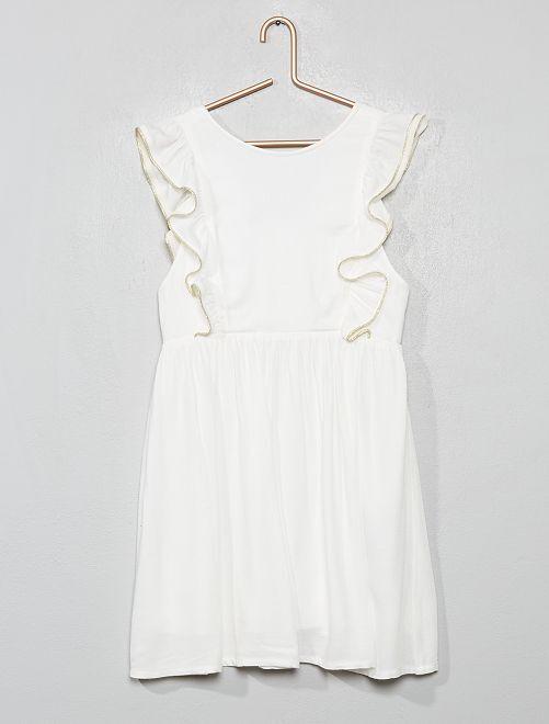 Vestito da cerimonia                                                     bianco neve