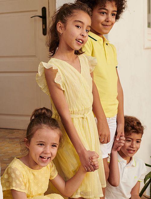 Vestito da cerimonia                                         giallo limone