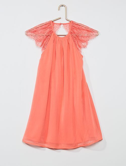 Vestito da cerimonia in voile                                         rosa