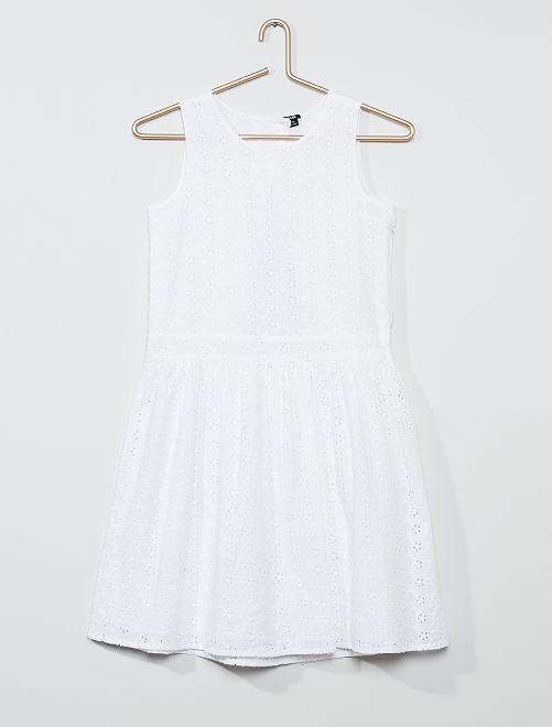Vestito effetto pizzo                                         bianco