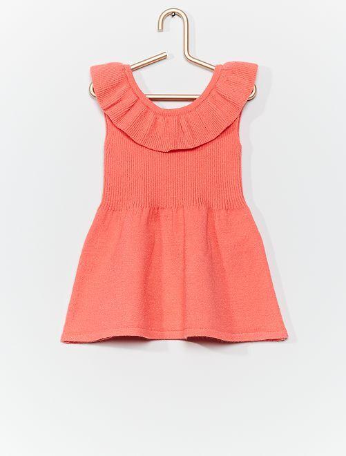 Vestito in maglia 'eco-friendly'                                         rosa