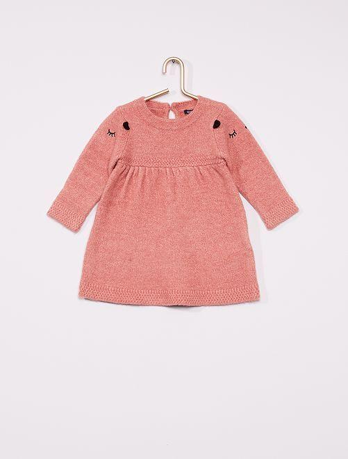 Vestito in maglia tricot animato                                                     ROSA