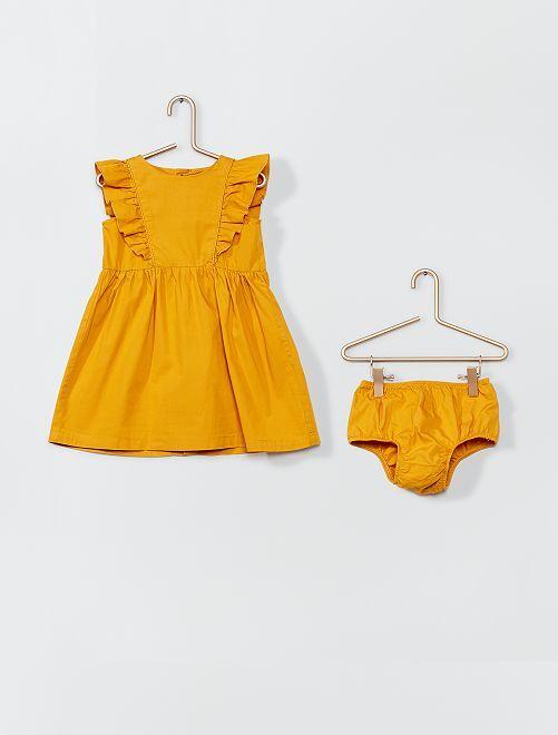 Vestito in popeline + slip                                         GIALLO