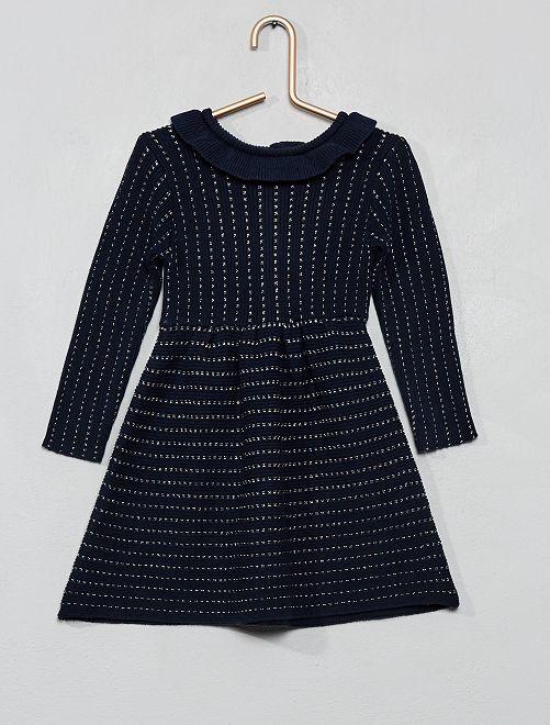 Vestito lavorato a maglia                                                     blu