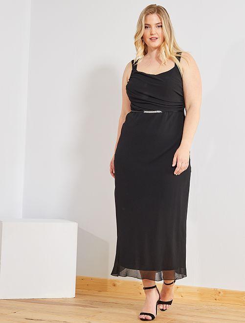 Vestito lungo da cocktail                                         nero