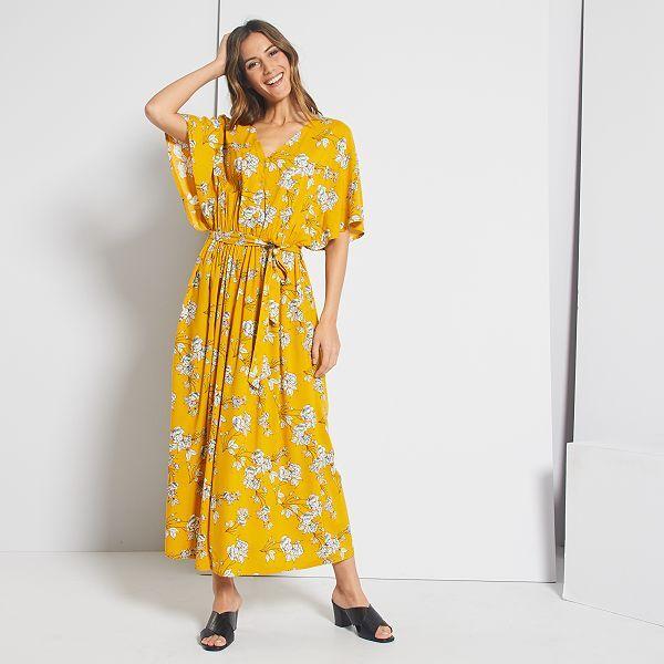 Vestito lungo floreale