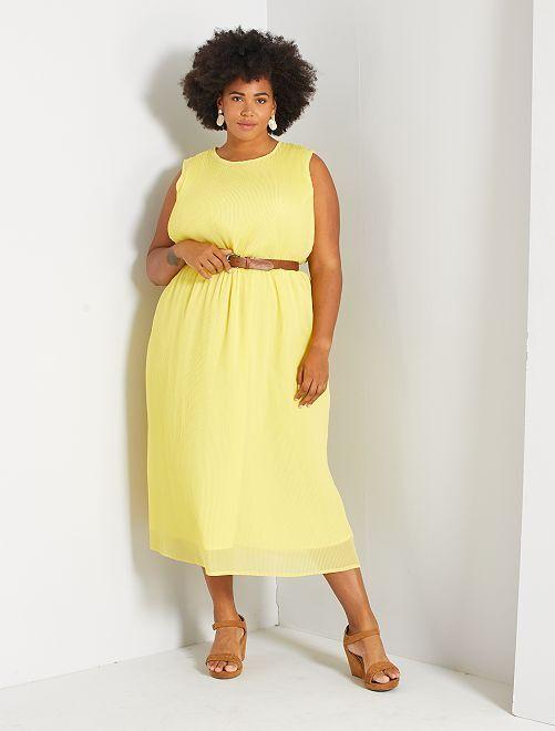 Vestito lungo plissettato                                                     giallo