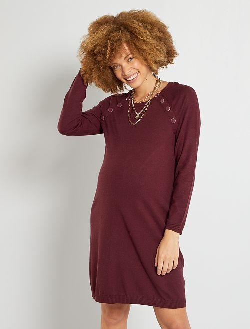 Vestito maxi pull premaman                                                                             rosso
