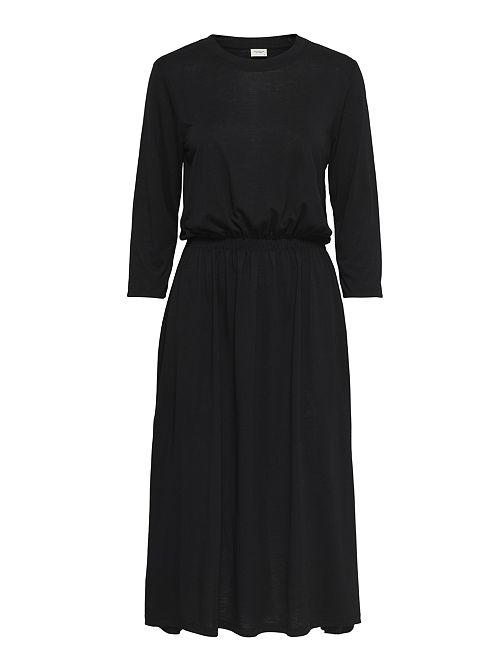 Vestito morbido con vita elasticizzata                                         nero