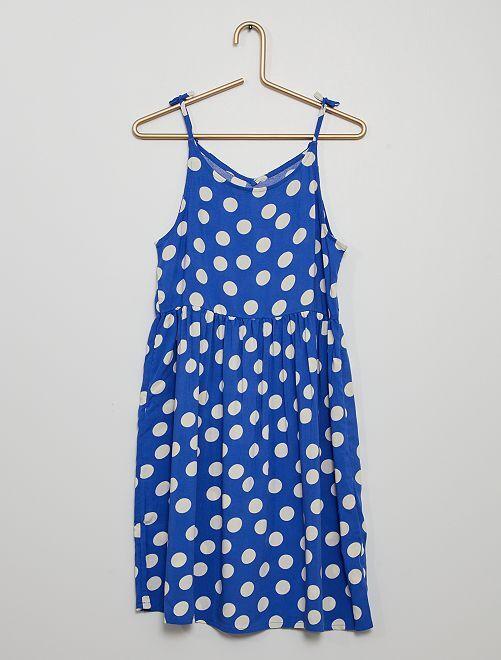 Vestito morbido stampato                                                                 blu