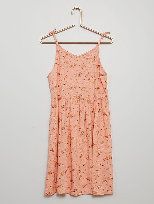 Vestito morbido stampato                                                                 ROSA