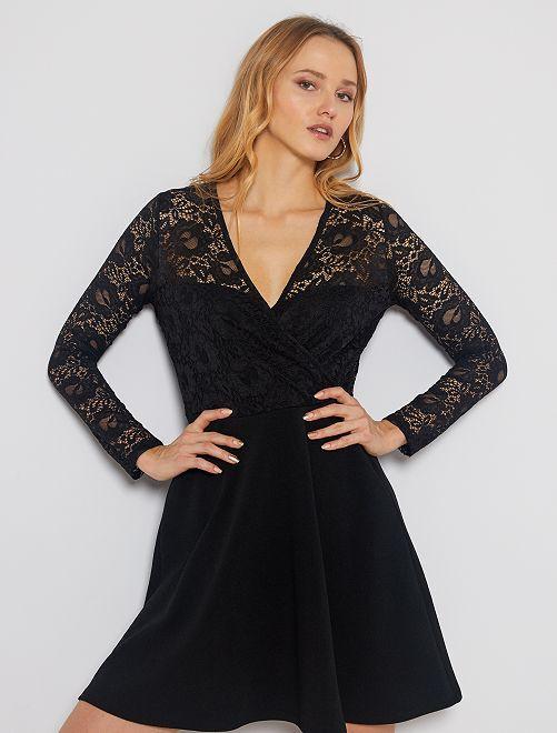 Vestito nero in pizzo                             nero