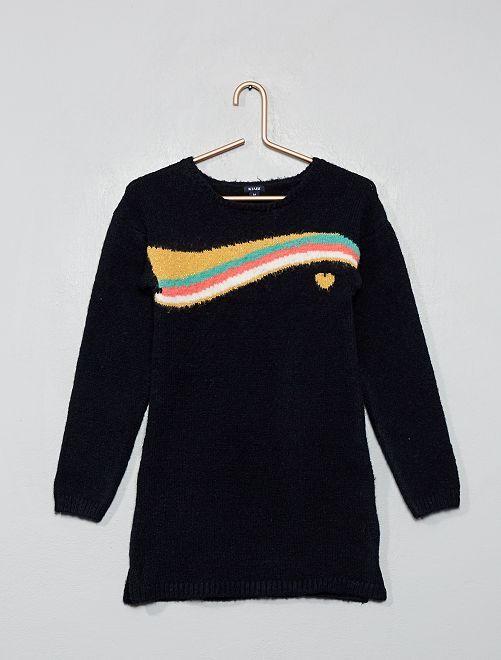 Vestito pullover maglia                                                                 BLU
