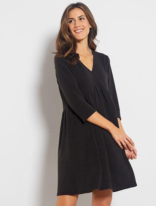 Vestito pullover pattinatrice                             nero