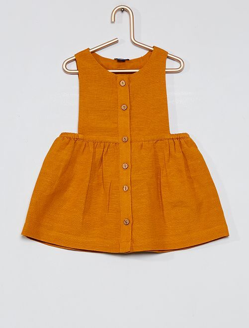Vestito scamiciato + pantaloncini bloomer                                                     GIALLO