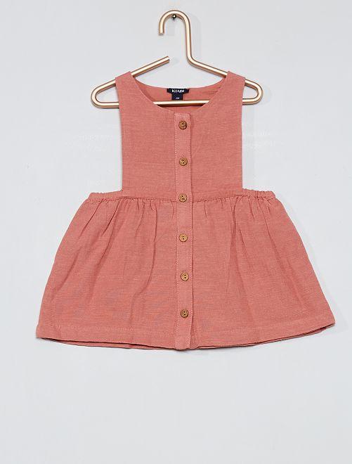 Vestito scamiciato + pantaloncini bloomer                                                     ROSA