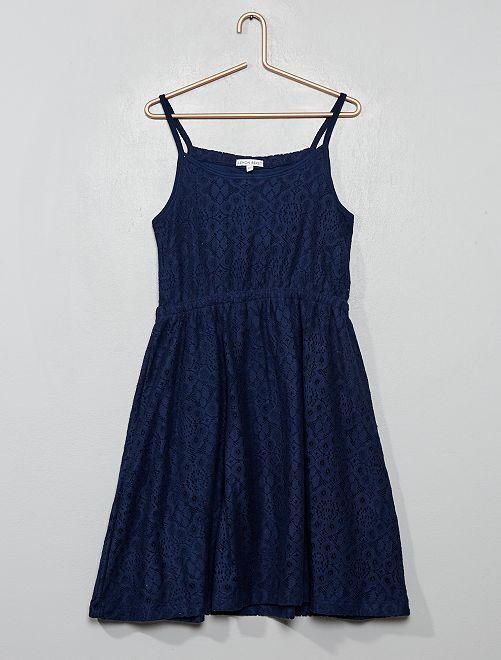 Vestito spalline in pizzo                                         BLU