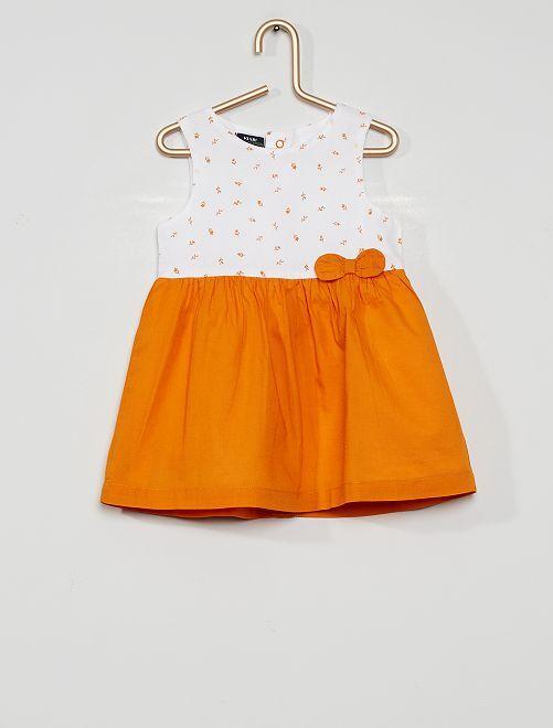 Vestito stampato eco-sostenibile                                                                                                                                         BIANCO