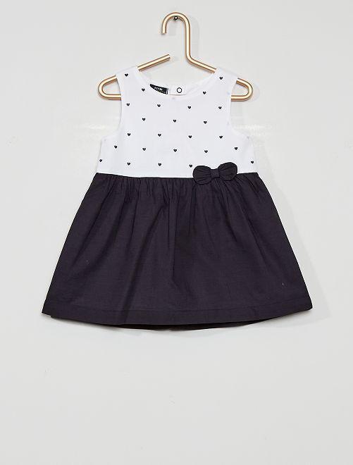 Vestito stampato eco-sostenibile                                                                                                     BLU