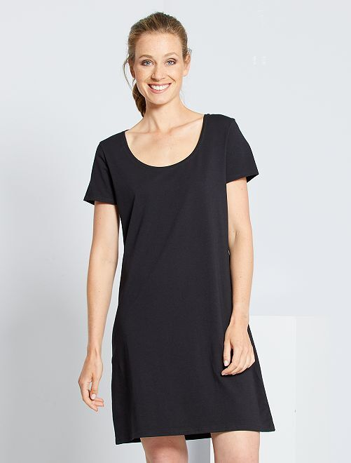 Vestito t-shirt 'eco-sostenibile'                                                                             nero