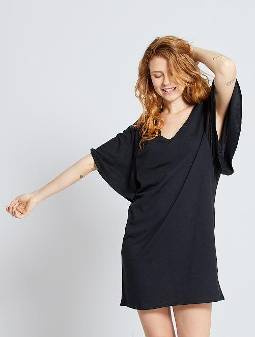 Vestito t-shirt eco-sostenibile                                 nero